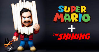Boneco Toy Art The Shocking – Crossover do Super Mario com O Iluminado