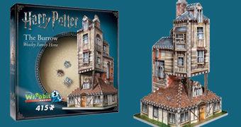 Quebra-Cabeça 3D Harry Potter: A Toca dos Weasley (The Burrows)
