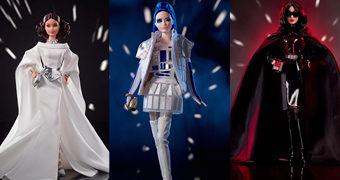 Bonecas Barbie Star Wars: Princesa Leia, R2-D2 e Darth Vader