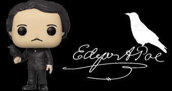 Boneco Pop! Edgar Allan Poe com Corvo
