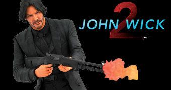 """Estátua John Wick 2 """"Catacumbas de Roma"""" Diamond Gallery Diorama (Keanu Reeves)"""