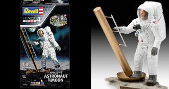 Astronauta na Lua – Kit Plástico Revell 50 Anos do Pouso na Lua