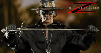 Zorro (Antonio Banderas) em A Máscara do Zorro 1998 – Action Figure 1:6 Blitzway