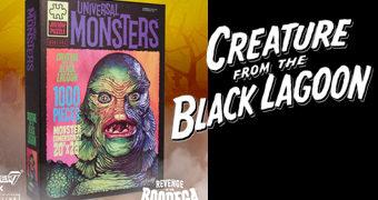 Quebra-Cabeça O Monstro da Lagoa Negra 1954 com 1.000 Peças (Monstros do Universal Studios)