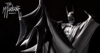 Batman por Todd McFarlane – A Centésima Estátua em Preto e Branco da linha Batman: Black and White