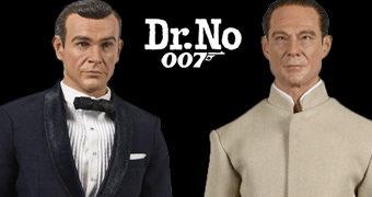 James Bond (Sean Connery) e Dr. Julius No (Joseph Wiseman) – Action Figures 1:6 BIG Chief de 007 Contra o Satânico Dr. No