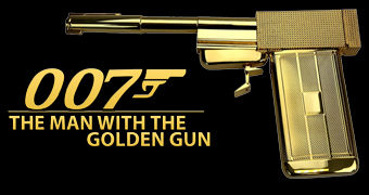 Réplica Perfeita da Arma Dourada de 007 contra o Homem com a Pistola de Ouro (The Man With The Golden Gun)