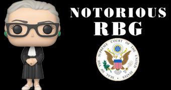 Boneca Ruth Bader Ginsburg (R.G.B.) Pop! Icons, a Juíza Liberal da Suprema Corte dos EUA
