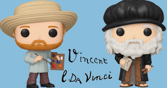 Bonecos Pop! Artists: Vincent van Gogh e Leonardo DaVinci