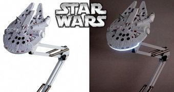 Millennium Falcon Lamp – Luminária de Mesa Tipo Arquiteto (Star Wars)