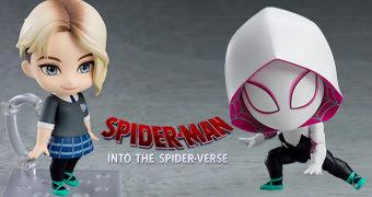 Boneca Nendoroid Spider-Gwen em Homem-Aranha: No Aranhaverso