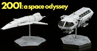 Espaçonaves em Miniatura de 2001 – Uma Odisseia no Espaço de Stanley Kubrick e Arthur C. Clarke