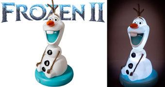 Luminária Boneco de Neve Olaf (Frozen 2 – O Reino do Gelo)