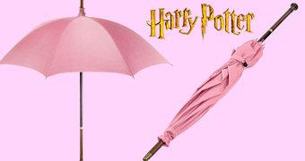 Guarda-Chuva Rosa Mágico de Rubeus Hagrid (Harry Potter)
