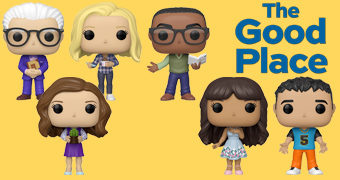 """What the fork?!"" Bonecos Pop! da Série The Good Place (O Bom Lugar)"