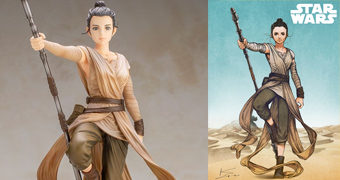 Rey ArtFX Artist Series por Kamome Shirahama – Nova Linha de Estátuas 1:7 Kotobukiya (Star Wars: The Force Awakens)