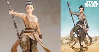 Rey ArtFX Artist Series por Kamome Shirahama – Nova Linha de Estátuas 1:7 Kotobukiya (Star Wars: The Force Awakens)