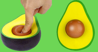 Brinquedo Anti-Stress Abacate (Avocado Stress Ball)