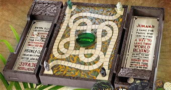 Jumanji Board Game – Réplica 1:1 do Jogo de Tabuleiro do Filme com Som de Tambores