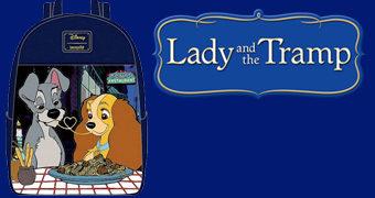 Mini-Mochila A Dama e o Vagabundo Jantar Romântico no Tony's (Loungefly+Disney)