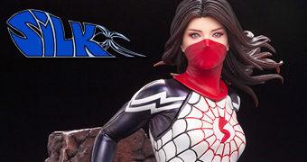 """Silk (Teia de Seda) ArtFX Premier – Estátua Kotobukiya Elite 1:10 """"The Women of Marvel"""""""