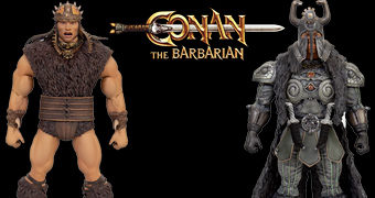 Conan, o Bárbaro (1982) Action Figures Ultimate Super7: Conan, Thulsa Doom, Rexor e Thorgrim