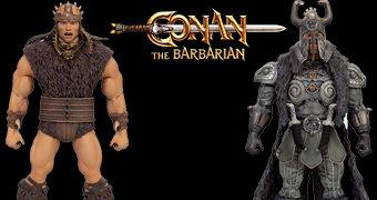 Conan, o Bárbaro (1982) Action Figures Ultimate Super7: Conan, Thulsa Doom, Rexor e Thorgrim