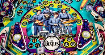 Máquina de Pinball The Beatles com 9 Músicas Clássicas