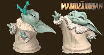 Mini-Figuras Baby Yoda (The Child): Comendo Sapo, Usando a Força, Brincando de Bola e Outros!
