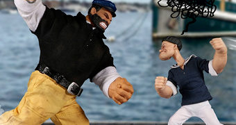 Action Figures Popeye e Brutus One:12 Collective da Mezco