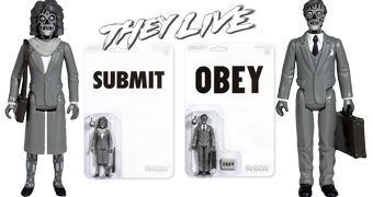 They Live ReAction em Preto e Branco – Action Figures Eles Vivem de John Carpenter