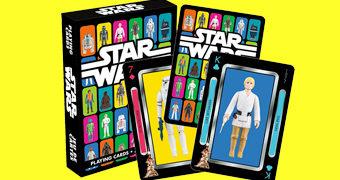 Baralho Star Wars com as Action Figures da Kenner de 1978 a 1985