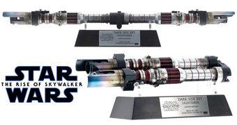 """Sabre de Luz """"Dark Side"""" da Rey com Dobradiça – Réplica Perfeita eFX Star Wars: A Ascensão Skywalker"""