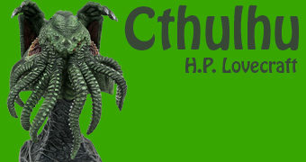 Busto Cthulhu Legends in 3D em Escala 1:2 (H.P. Lovecraft)