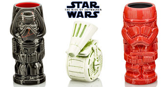 Canecas Geeki Tikis Star Wars A Ascensão Skywalker: Kylo Ren, Sith Trooper e D-O