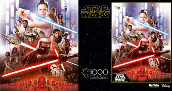 """Quebra-Cabeça Star Wars Rise of Skywalker """"No One's Ever Really Gone"""" com 1.000 Peças"""