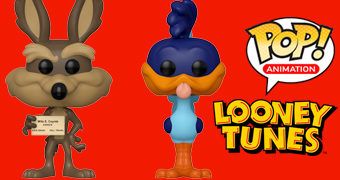 Bonecos Pop! Looney Tunes: Papa-Léguas e Willy Coiote