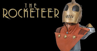 Busto Rocketeer Legends in 3D em Escala 1:2