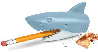 Apontador de Lápis Grande Tubarão-Branco