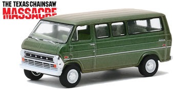 Furgão Ford Club Wagon 1972 de O Massacre da Serra Elétrica – Réplica Greenlight Die-Cast 1:64