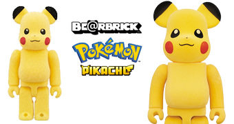 Pokémon Pikachu Be@rbricks Flocados (100% & 400%)