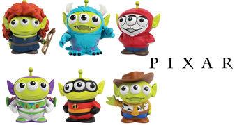 Figuras do Alienígena de Três Olhos de Toy Story Fazendo Cosplay dos Filmes da Pixar