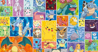 Quebra-Cabeça Pokémon com 2.000 Peças Incluindo Pikachu, Eevee, Charizard, Jigglypuff, Mewtwo, Snorlax e Outros