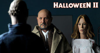 Halloween 2 – O Pesadelo Continua Action Figures Retro Neca Clothed: Doctor Loomis, Laurie Strode e Michael Myers