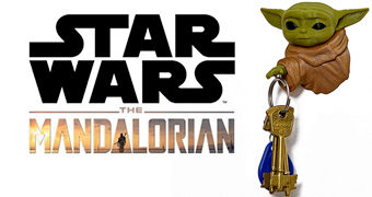 Baby Yoda Porta Chaves Magnético da Série Star Wars: The Mandalorian