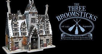 Quebra-Cabeça 3D Harry Potter: Estalagem The Three Broomsitcks Inn (Três Vassouras)