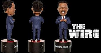 """Senador Clay Davis """"Sheeeeeeeee-it"""" da Série The Wire – Boneco Bobble Head Falante"""