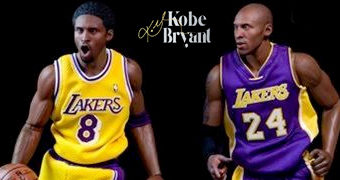 Kobe Bryant Action Figures Perfeitas 1:6 NBA Real Masterpiece (Enterbay)