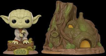 Pop! Town Star Wars O Império Contra-Ataca 40 Anos: Yoda e sua Cabana no Planeta Dagobah