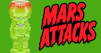 Caneca Tiki Mug Marte Ataca! Geeki Tikis